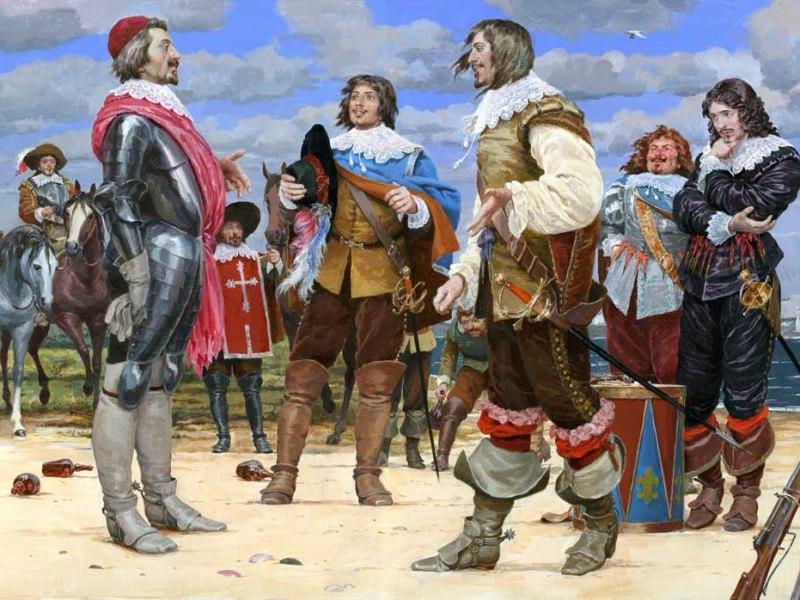 Пазл Собирать пазлы онлайн - Три мушкетера