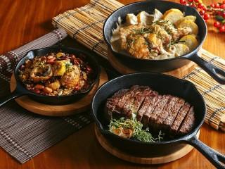Собирать пазл Три сковороды онлайн