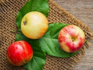 Собирать пазл Три яблока онлайн