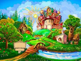 Собирать пазл Тридевятое царство онлайн