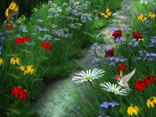 Собирать пазл Тропа среди травы онлайн