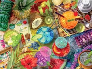 Собирать пазл Тропический коктейль онлайн