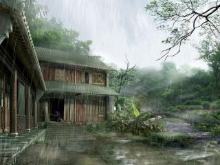Собирать пазл Тропический дождь онлайн
