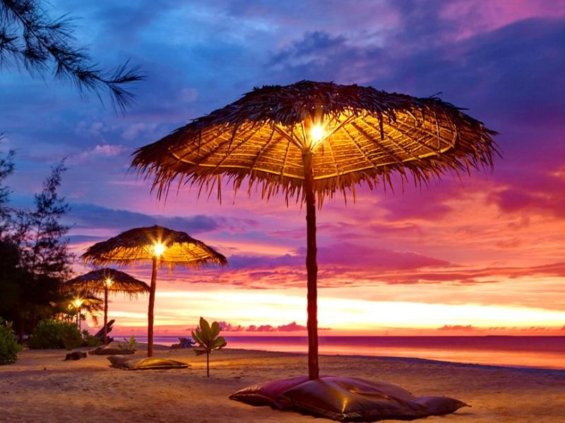 Пазл Собирать пазлы онлайн - Тропический пляж