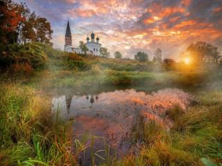 Собирать пазл Церковь в Осенево онлайн
