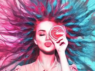 Собирать пазл Цитрусовый поцелуй онлайн