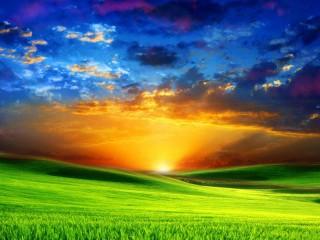 Собирать пазл Небо и поле онлайн