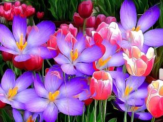 Собирать пазл Цветение онлайн