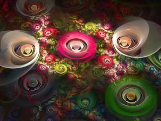 Собирать пазл Цветы-абстракции онлайн