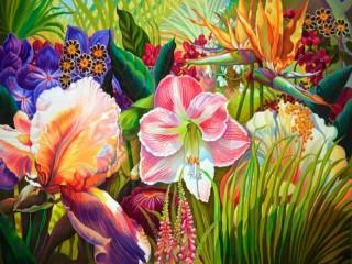 Собирать пазл Цветы1 онлайн