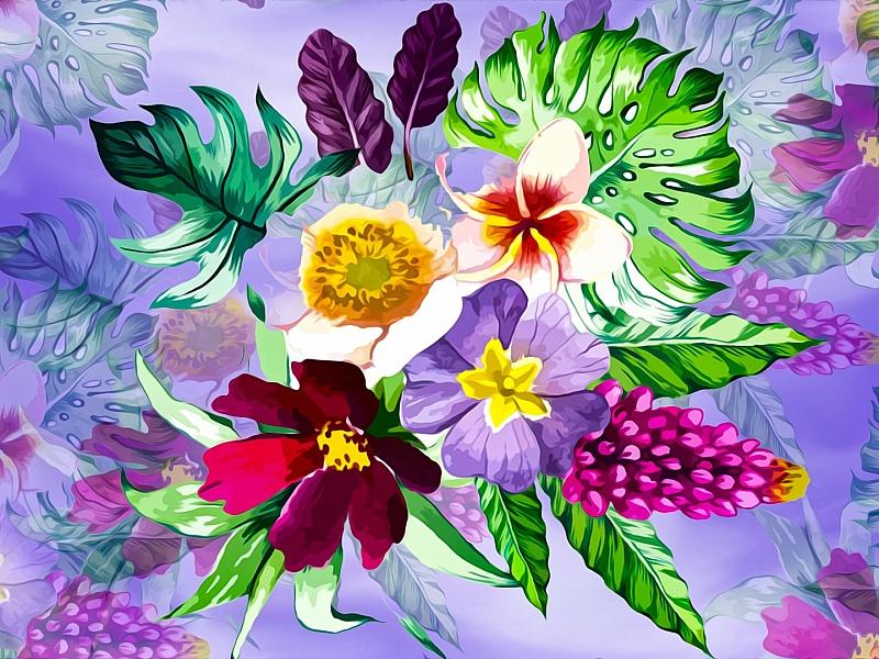волшебный, сказочный паззл цветов картинки нужна
