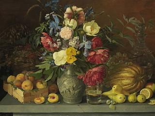 Собирать пазл Цветы и фрукты онлайн