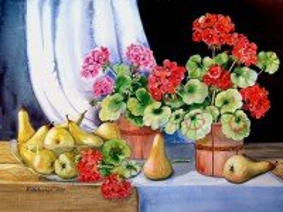 Собирать пазл Цветы и груши онлайн