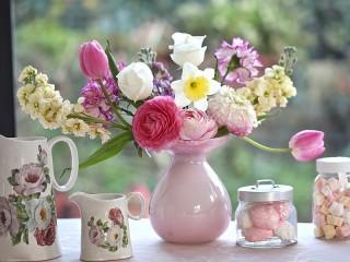 Собирать пазл Цветы и пастила онлайн