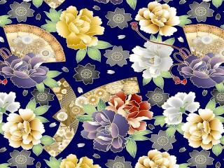 Собирать пазл Цветы и веера онлайн