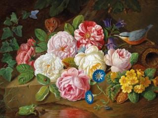 Собирать пазл Цветы и животные онлайн