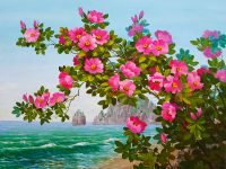 Собирать пазл Цветы у моря онлайн