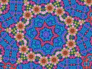 Собирать пазл Цветы в калейдоскопе онлайн
