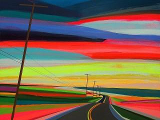 Собирать пазл Цветная дорога онлайн