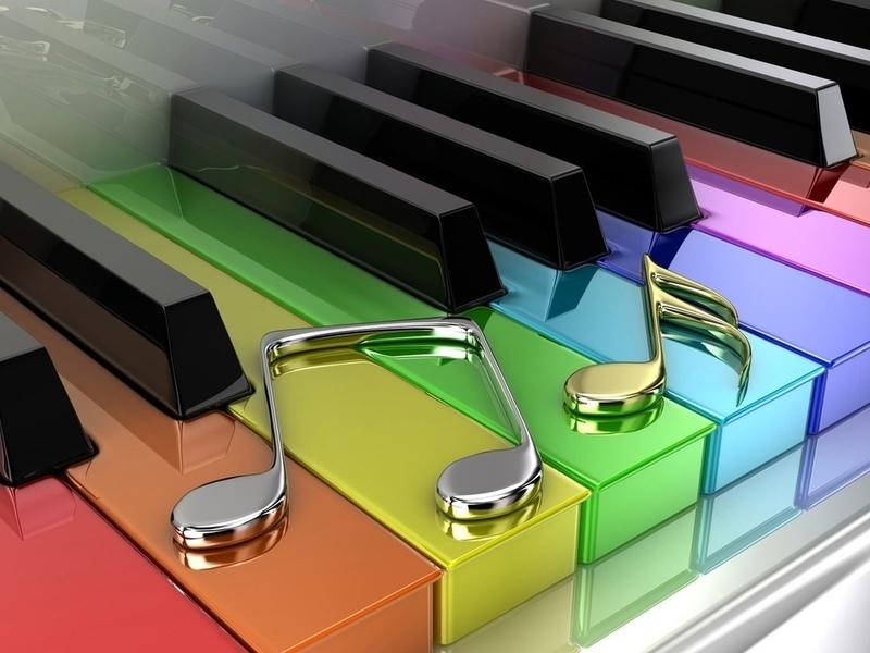 Пазл Собирать пазлы онлайн - Цветная музыка