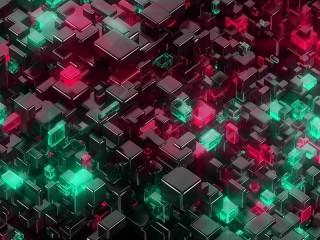 Собирать пазл Цветные кубы онлайн