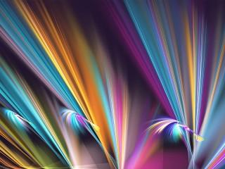 Собирать пазл Цветные линии онлайн