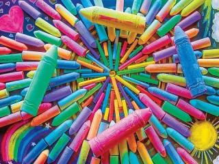 Собирать пазл Цветные мелки онлайн