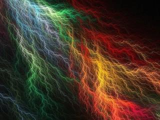 Собирать пазл Цветные молнии онлайн