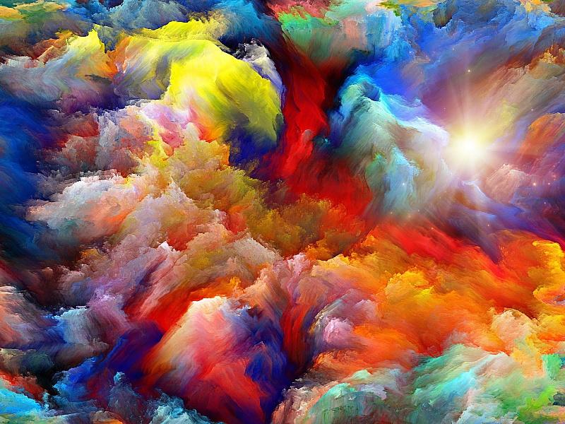 Пазл Собирать пазлы онлайн - Цветные облака