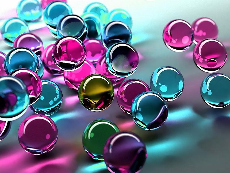 Пазл Собирать пазлы онлайн - Цветные шары