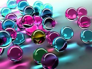 Собирать пазл Цветные шары онлайн