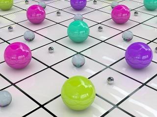 Собирать пазл Цветные шарики онлайн