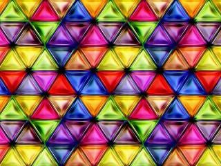 Собирать пазл Цветные треугольники онлайн