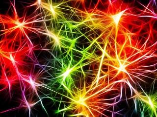 Собирать пазл Цветные вспышки онлайн