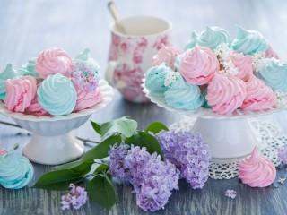 Собирать пазл Цветной зефир онлайн