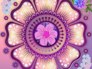 Собирать пазл Цветочная фантазия онлайн