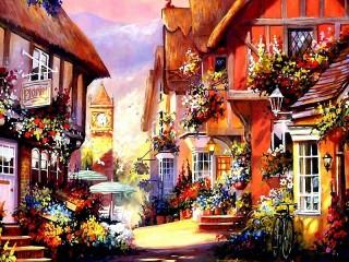 Собирать пазл Цветочная улица онлайн