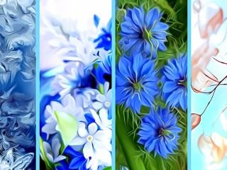 Собирать пазл Цветочные панели онлайн