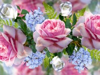 Собирать пазл Цветочный коллаж онлайн