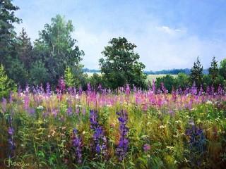 Собирать пазл Цветочный луг онлайн