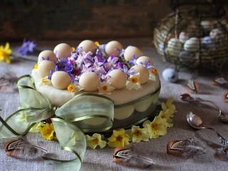Собирать пазл Цветочный торт онлайн