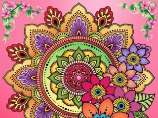 Собирать пазл Цветочный узор онлайн