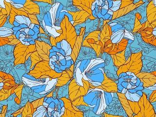 Собирать пазл Цветочный витраж онлайн