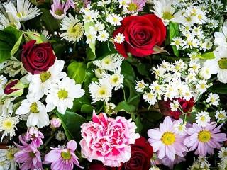 Собирать пазл Цветочное ассорти онлайн