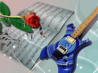 Собирать пазл Цветок и музыка онлайн