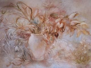Собирать пазл Туманные цветы онлайн