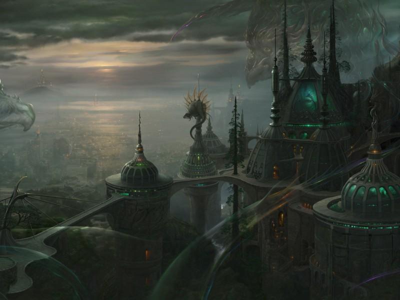 Пазл Собирать пазлы онлайн - Туманный город