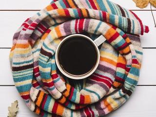 Собирать пазл Тёплый кофе онлайн