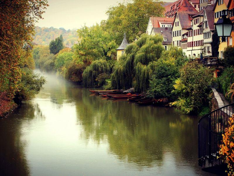 Пазл Собирать пазлы онлайн -  Город Тюбинген Германия