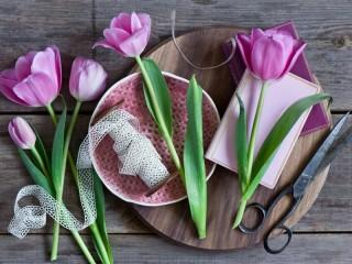 Собирать пазл Тюльпаны1 онлайн